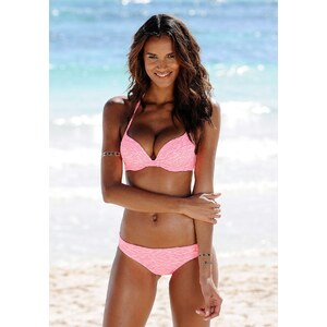 Große Größen: Umschlag-Bikini-Hose ´´Melange´´, Venice Beach, hummer-weiß, Gr.34-44