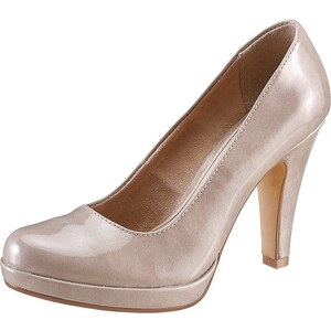 Große Größen: Tamaris High-Heel-Pumps, taupe, Gr.35 (2,5/3)-41 (7/7,5)