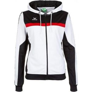 Große Größen: ERIMA 5-CUBES Trainingsjacke mit Kapuze Damen, weiß/schwarz/rot, Gr.34-48