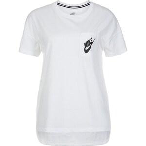 Große Größen: Nike Sportswear Signal T-Shirt Damen, weiß / schwarz, Gr.XL - 48/50-XS - 32/34