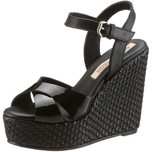Große Größen: Buffalo London High Heel Sandalette in Flecht-Optik, schwarz, Gr.36-41