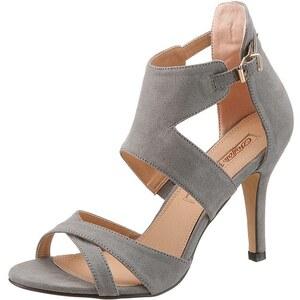 Große Größen: Buffalo Girl High Heel Sandalette, grau, Gr.37-42