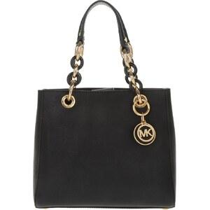 Michael Kors Sacs portés main, Cynthia SM NS Satchel Bag Black en noir