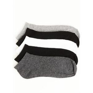 chaussettes basic blanches, grises et noires Jennyfer