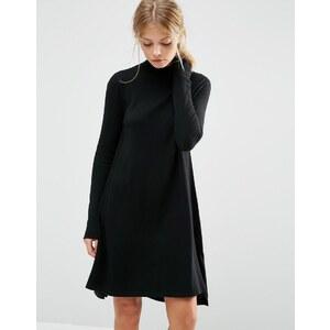ASOS - Robe tunique tricotée en cachemire mélangé - Noir