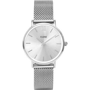 Cluse Minuit Mesh Full Silver Damenuhr CL30023