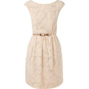 Jake*s Kleid mit floralem Muster und Taillengürtel