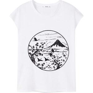 MANGO Baumwoll-T-Shirt Mit Bildaufdruck
