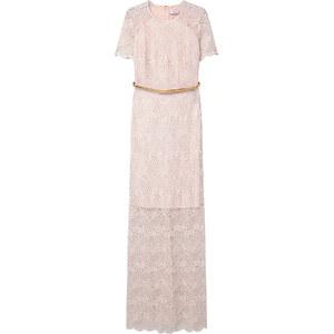 MANGO Langes Kleid Aus Gipürespitze