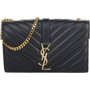 Saint Laurent Sacs à Bandoulière, Monogramme Small Chain Shoulder Bag Navy en bleu