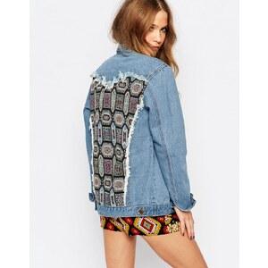 ebonie n ivory - Veste oversize en jean avec dos personnalisé - Bleu