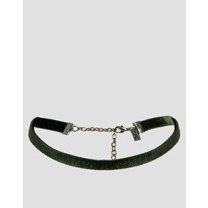 Regal Rose - Collier court en velours - Vert mousse - Vert