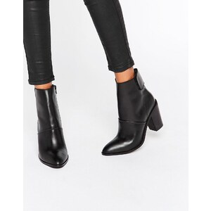 ASOS - EFFIE - Bottines en cuir - Noir