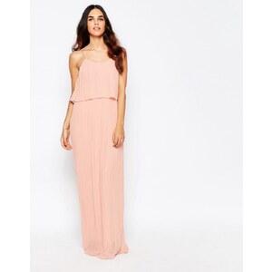 Club L - Maxi robe avec superposition plissée - Rose