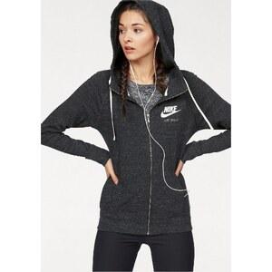 Große Größen: Nike Sportswear GYM VINTAGE FULLZIP HOODIE Kapuzensweatjacke, Schwarz-Meliert, Gr.L (42/44)-XS (30/32)