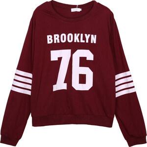 Lesara Sweater Brooklyn 76 - Dunkelrot - M
