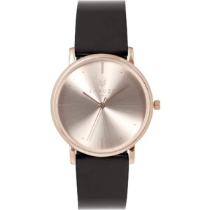 LARUZE PARIS Montre en Cuir et Or Rose La Vernie
