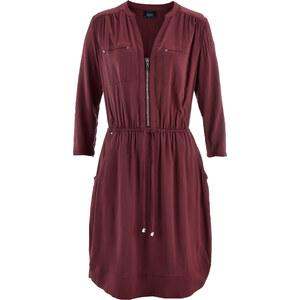 bpc bonprix collection Web-Kleid mit 3/4-Arm in rot von bonprix