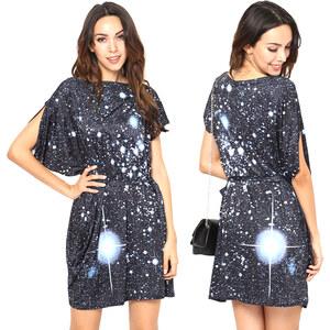 Lesara Asymmetrisches Shirt-Kleid Sternensystem - S