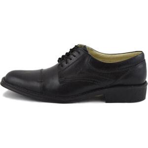 Lesara Herren-Business-Schuhe aus Leder - Schwarz - 41
