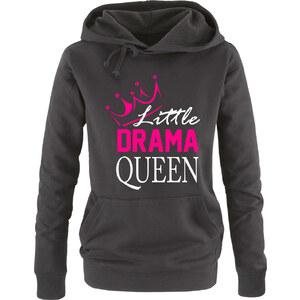 Lesara Hoodie Little Drama Queen - Schwarz - S