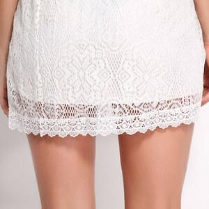 Lesara Kleid aus Spitze - Weiß - S