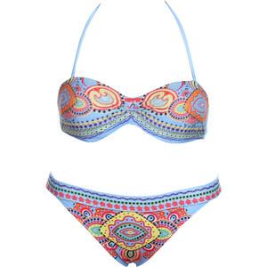Lesara Push-up-Bikini mit Muster - Blau - L