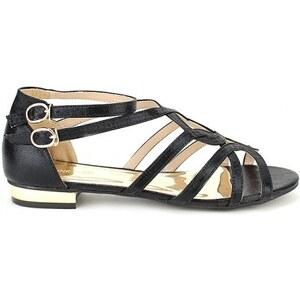 Sandale Noir Satin CINK - Cendriyon