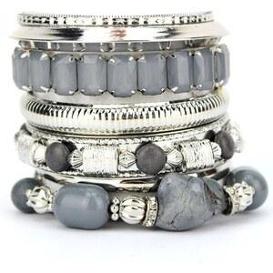 Bracelets Multiples Gris OYS Pierres, - Cendriyon