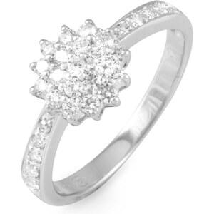 Histoire d'Or Bague en or ornée de diamants - blanc