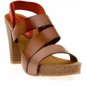 Vaquettilas Sandales en cuir - marron