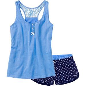 bpc bonprix collection Pyjashort bleu sans manches lingerie - bonprix