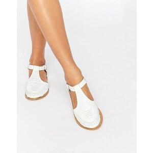 ASOS - JABEL - Chaussures en cuir style geek - Blanc