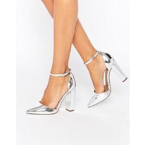 ASOS PENALTY - Chaussures à bout pointu et talons hauts - Argenté