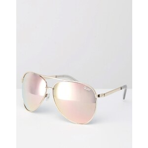 Quay - Australia Vivienne - Metall-Pilotensonnenbrille mit Roségold - Gold