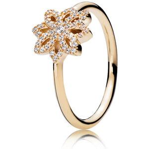 Pandora Ring Spitzen-Blüte Gold 150182CZ-48