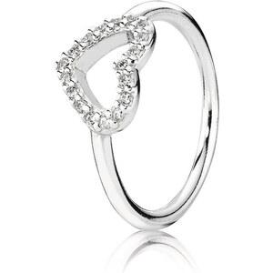Pandora Ring mit Zirkonia-Herz Silber 190861CZ-56
