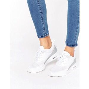 Nike - Air Max Thea TXT - Turnschuhe in Weiß und Silber - Weiß