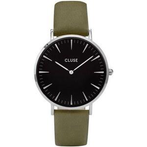 Montre Cluse La Bohème Silver Black/Olive Green