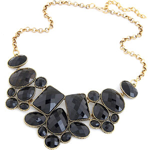 Lesara Halskette mit geometrischen Schmucksteinen