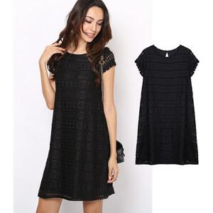 Lesara Kleid in A-Linie mit Spitze - S