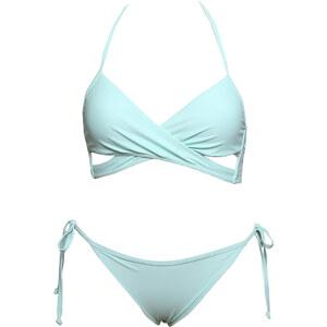 Lesara Neckholder-Bikini mit Top in Wickel-Optik - Türkis - XS