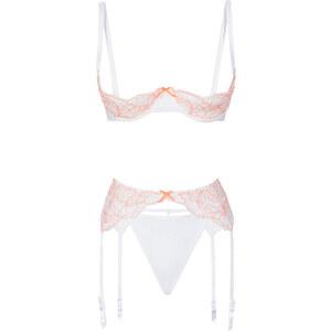 Redresse-poitrine + string + porte-jarretelles (Ens. 3 pces.), Bon. D blanc lingerie - bonprix