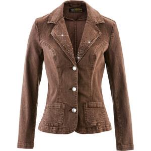 bpc selection Blazer en jean marron manches longues femme - bonprix