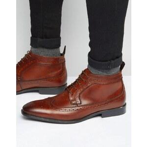 ASOS - Desert boots richelieu en cuir - Marron - Marron