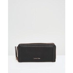 Calvin Klein - Robyn - Grand porte-monnaie zippé sur le pourtour - Noir