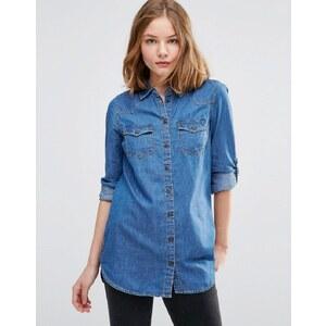 JDY - Chemise en jean - Bleu