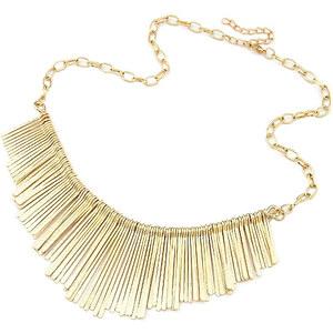 Lesara Statement-Halskette mit Stäbchen - Gold