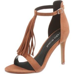 VERO MODA High Heel Sandalette Mit Fransen