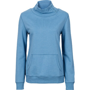 John Baner JEANSWEAR Sweat-shirt à col montant bleu manches longues femme - bonprix